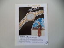 advertising Pubblicità 1991 LONGINES CONQUEST VHP