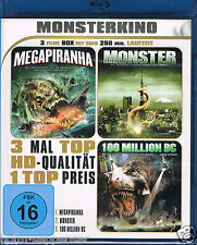 Blu-ray Monster Kino 3 Filme Megapiranha Monster 100 Million BC Neu OVP in Folie
