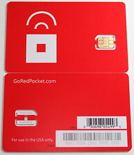 Prepaid Red Pocket Mobile NANO Sim Card for iphone 5 AT&T Go phone network att