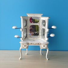 1:12 Dollhouse Miniature Furniture Handcrafted White Painted Emporium Hat Vanity