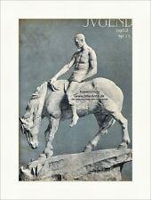 Titelseite der Nummer 39 von 1902 Constantin Meunier Pferd Mann Jugend 3350