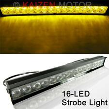 "18"" Amber 16-LED Waterproof Emergency Strobe Light Safety Warning Flashing Lamp"