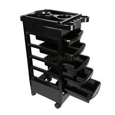 Hairdressing Storage Trolley Beauty Salon Spa Rolling Cart Stylist Station F2U7