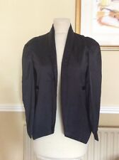 FANTASTIC HAODUOYI BLACK SATIN EFFECT CAPE JACKET UK SIZE S BNWT