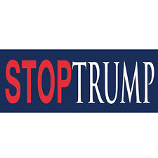 STOP TRUMP Bumper Sticker - Anti Donald Trump Sticker For Anyone Anti-Trump