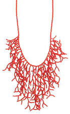 Coral Bead Branch Nautical Chic Necklace Summer Statement Bib Fashion Jewelry