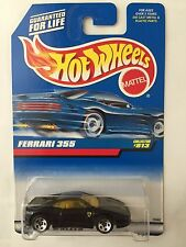 Hot Wheels FERRARI 355 - Black 1998 Mainline Cars #813 berlinetta f355 sportscar