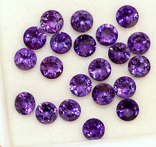 Natural Amethyst Round Cut 4.00 mm 10 Pcs 3.33 Cts Lustrous Purple Shade Gems