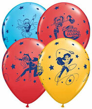 "10 pc 12"" Super Hero Girls DC Party Latex Balloons Happy Birthday High School"
