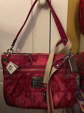 Coach Poppy Pink Storypatch Metallic Limited Edition Glam Tote Handbag