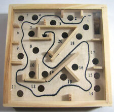 "Labyrinth Game Wood Tilt Box 4.5"" Game Handmade Classic Toy of physical skill"