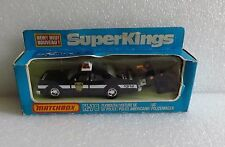 NIB '79 MATCHBOX SUPER KINGS PLYMOUTH GRAN FURY NYC POLICE CAR K-78 NEW