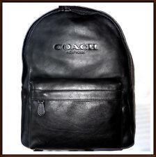 NWT NEW W/ TAGS $550 Coach Men's Calf Leather Large Campus Backpack BLACK 2016