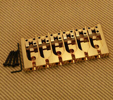 "5A600BG-708 Hipshot ""A"" Series Gold 6-String Brass Bass Bridge"