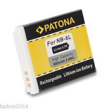 batteria nb6l nb-6l per CANON POWERSHOT D20 D10 D90 S10 S95 BATTERIA PATONA