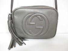 Authentic GUCCI Khaki Soho Disco Bag 308364 Leather Shoulder Bag w/ Dust Bag