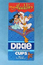 VINTAGE 1993 DISNEY'S THE ALADDIN MOVIE 5oz DIXIE KITCHEN CUPS SEALED BOX