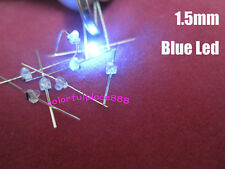 50pcs 1.5mm Mini Blue Water Clear LED Leds Made in Taiwan + Resistors for 9V 12V
