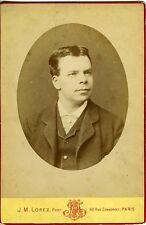 J.M. LOPEZ . COQUELIN aîné . acteur . Cyrano de Bergerac - photo Cabinet 1880