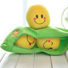 1x Pea Pillow Smiling Little Peas Plush Toy Doll 3 Peas In a Pod Pea For Kids