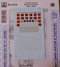 Microscale Decal N #60-1019 Canadian National Steam Locomotives(1931-1960)-Steam