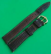 Pre-owned CARTIER Genuine leather brown Watch Strap