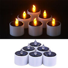 Yellow Solar Power LED Candles Flameless Electronic Solar LED Tea Lights Lamp HG