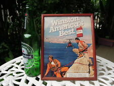 8.5 X 11.5 Inch 1970s Winston vintage Picture wooden frame helicopter Climbing