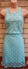 JAUNE ROUGE FLORAL LACE EMBROIDERED CUT OUT SIDES BODYCON PENCIL GREEN DRESS M L