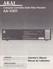 Akai AA-V301 Original A/V Receiver Owners Manual English, French