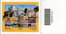 2013 francobollo Il Turismo: Ponza SX CODICE A BARRE 1544
