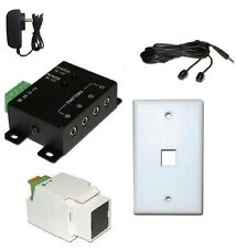 Wired IR Distribution Remote Control Extender Kit-Up to 300' Controls 2 devices