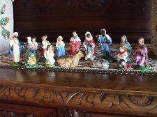 Vintage Nativity Figures Italy Christmas Mary Joseph Angel Animals Shepherd King