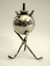 RARE ANTIQUE SOLID SILVER GOLF CLUB LIGHTER BIRMINGHAM 1910 GOLFING