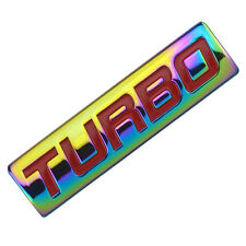 NEO CHROME/RED METAL TURBO ENGINE RACE MOTOR SWAP EMBLEM BADGE FOR TRUNK DOOR A