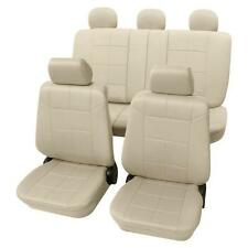 Beige Seat Covers with a Classy Leather Look - For Nissan MICRA 2003 to 2010