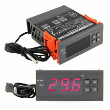 220V Digital LCD Display Temp Temperature Controller Thermostat w/Sensor