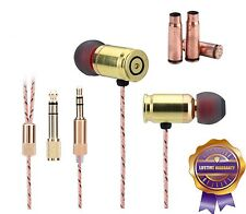 Full Genuine Bullet Metal Housing Dual Driver Heavy Bass Noise-isolating Earbuds