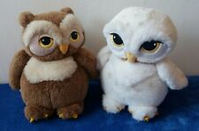 Vintage Harry Potter Hedwig and brown owl plush toy pair Trudi original
