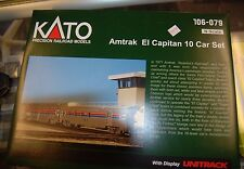 N Kato 106-079 * Amtrak El Capitan 10 Car Set