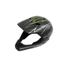 KIDS STUNT BICYCLE CYCLE MOUNTAIN BIKE BMX MTB BOMBER BLACK FULL FACE HELMET