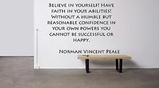 Vinyl Wall Decal Sticker Room Decor Custom Quotes Motivational Peale F1508