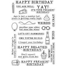 Hero Arts Stamp Set PolyClear Irreverent Birthday Messages