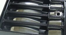 VAUXHALL OPEL VIVARO RENAULT TRAFIC 02- CHROME4 DOOR HANDLE COVERS STEEL
