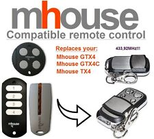 MHouse GTX4, GTX4C, TX4 compatible remote control transmitter, 433,92 MHz