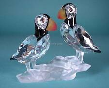 SWAROVSKI CRYSTAL PUFFINS 261643 MINT BOXED RETIRED RARE