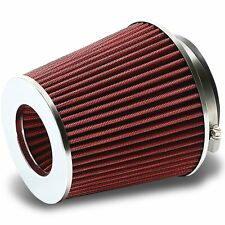 Car Cone Cotton Style flow Air Filter Cold Intake Induction Increase Universal