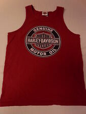 Harley-Davidson Motorcycles M red tank top, t-shirt Mt. Vernon IL