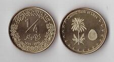 LIBYA - NEW ISSUE 1/4 DINAR UNC COIN 2014 YEAR HOLOGRAM