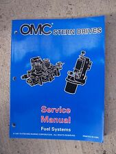 "1998 OMC Stern Drive ""BY"" Fuel System Service Manual Boat MORE IN OUR STORE U"